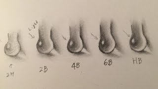 How to draw water drops and pencil lead hardness comparison