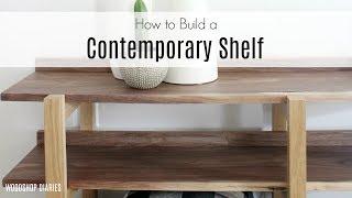 DIY Contemporary Shelf--How to Build a Modern Console Table