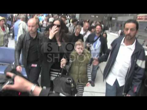 Liv Tyler with her son Milo touch down at Nice Airport