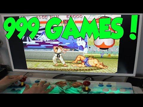 PANDORA'S BOX 5S REVIEW RETRO GAMING ARCADE CONSOLE 999 GAMES
