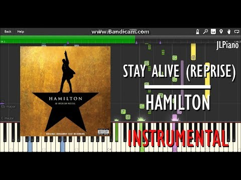 Stay Alive (Reprise) (Instrumental) - Hamilton (Synthesia Piano Backing) *SHEET MUSIC*