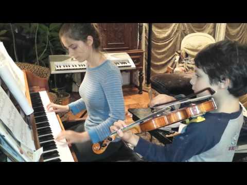 Piano and violin duet Rosemary ' s Song
