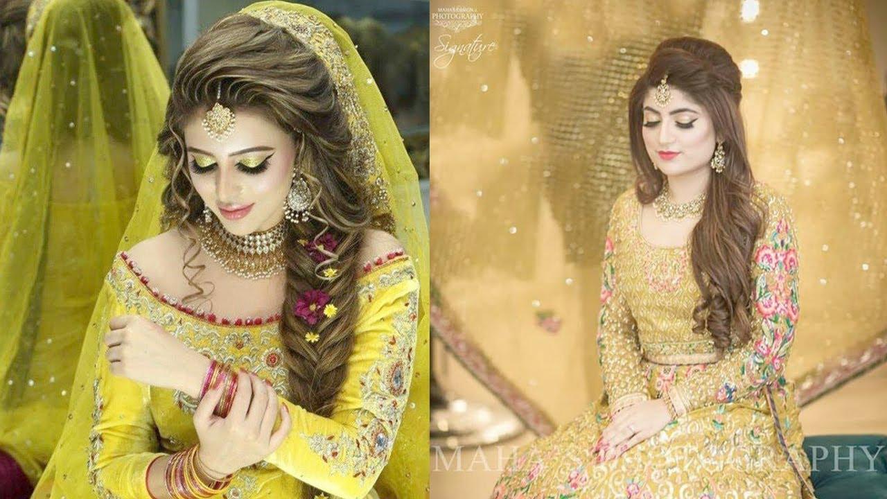 Mehndi Bridal Dresses , Beautiful Pakistani Bridal Dresses Collection ,  Wedding Dresses 2018,2019
