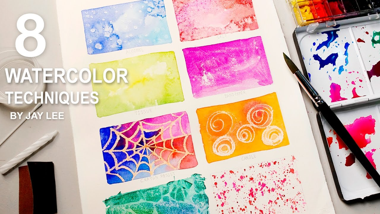 8 Watercolor Techniques for Beginners | Easy Basic Fun Art ...