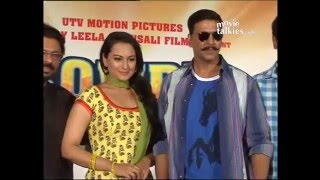 Akshay Kumar and Sonakshi Sinha at the first look of 'Rowdy Rathore'