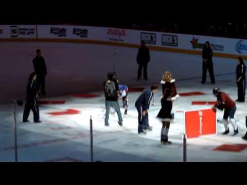 Eurolanche Invasion VII - Eurolanche member on the ice in Pepsi Center