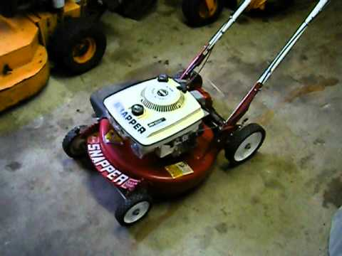 Mint 1987 1988 Snapper 4 Hp Extra Tough Mower Youtube
