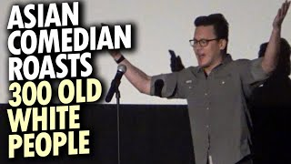 Asian comedian flops in front of 300 old white people