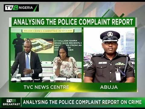 TVC BREAKFAST 26.10.2016: ANALYSING THE POLICE COMPLAINT REPORT