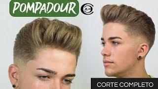 Como hacer un corte cabello Pompadour?  Paso a Paso CORTE COMPLETO