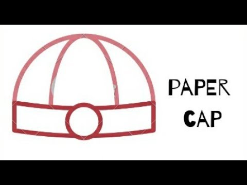 How to make a paper cap..(DIY)..