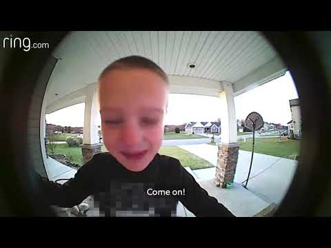 Michael Berry - Boy Gets Dad's Help By Using Doorbell. What A Smart Boy.