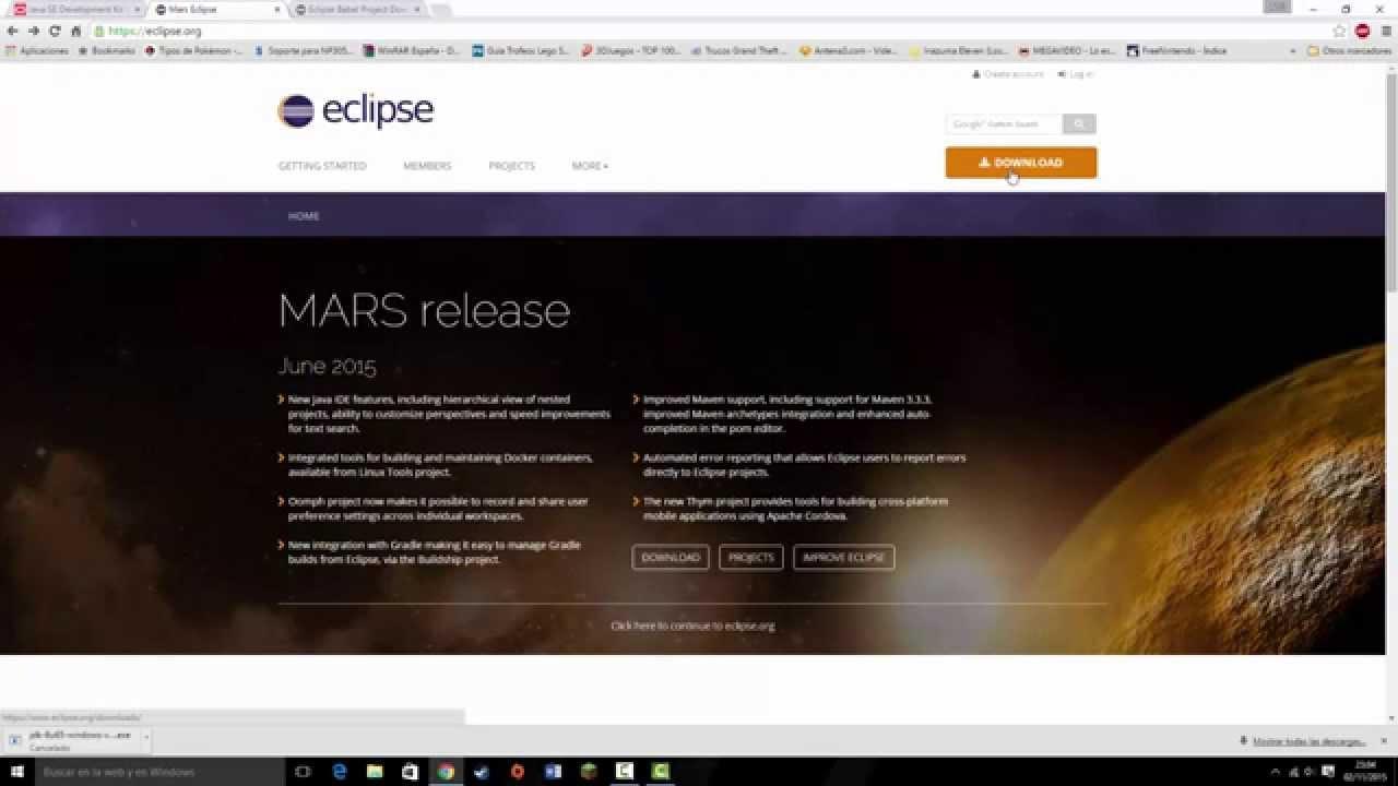 Descargar e instalar, Java y Eclipse en Español - YouTube