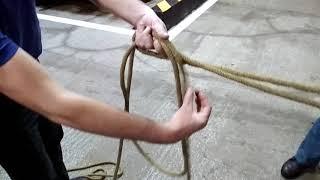 Вязка спасательной верёвки за конструкцию 4 способа