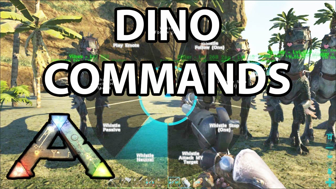 Dino Commands Ark Survival Evolved How to