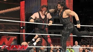 Roman Reigns sparks massive brawl with Kane: Raw, July 7, 2014
