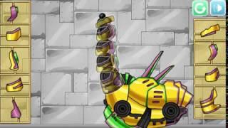Мультик игра Собери робота динозавра: Брахиозавр (Combine! Dino Robot Brachiosaurus)