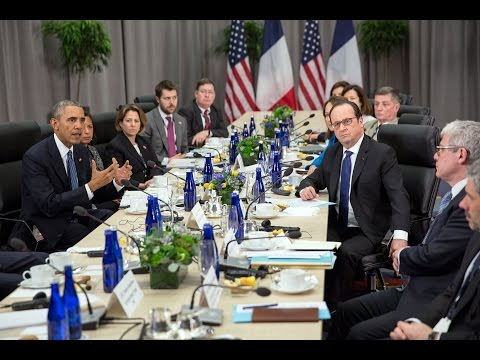 President Obama Holds a Bilateral Meeting with President Francois Hollande of France