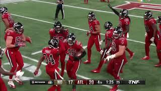 Deion Jones game winning interception on Drew Brees : Saints vs Falcons Week 14