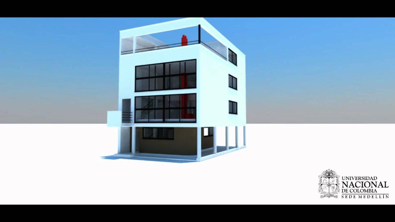 Animaci n casa citroen youtube - Casas de le corbusier ...