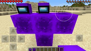 How to Spawn Purple Imposter Boss in Minecraft ! Among Us