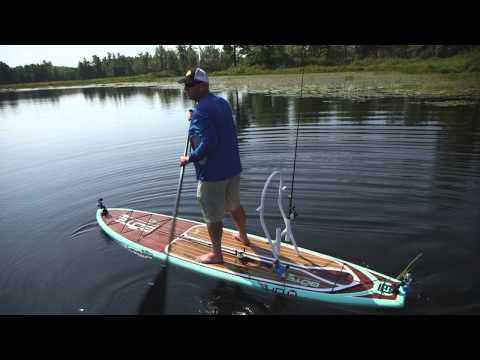 Stand up paddle board weedline wackfest for largemouth for Paddleboard for fishing