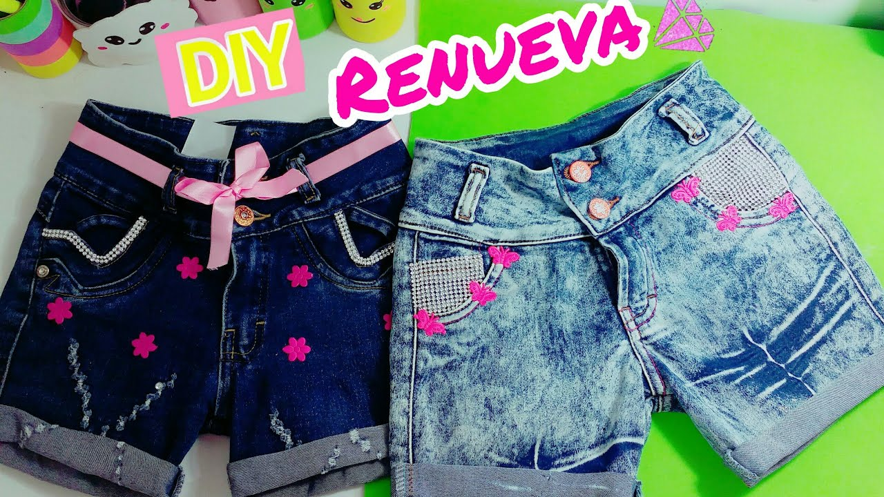 Diy Shorts Con Jeans Viejos Para Ninas Transforms Old Jeans Youtube