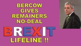Bercow Allows No-Deal Brexit Busting Amendment!