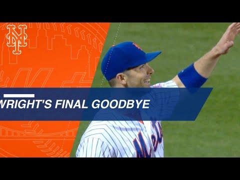 David Wright's emotional goodbye to baseball