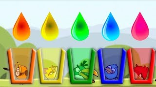 Angry Birds Drink Water 2 - ALL BIRDS NEED COLOR WATER!! SHOOTING GAME