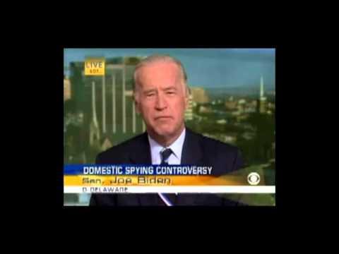 Biden in 2006 schools Obama in 2013 over NSA spying program