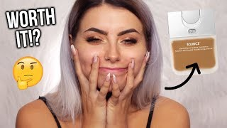 TESTING NEW BEAUTY BLENDER BOUNCE FOUNDATION! FIRST IMPRESSIONS, WEAR TEST & REVIEW!