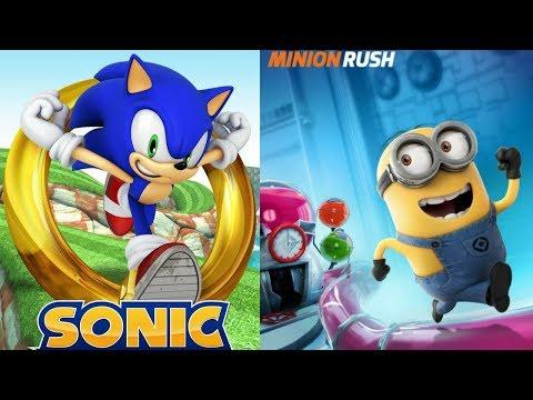 Minion Rush & Sonic Dash - Despacito Justin Bieber Cover
