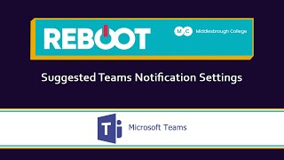 Suggested Teams Notification Settings