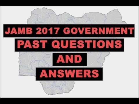 JAMB 2017 Government Past Questions and Answers Q1-9