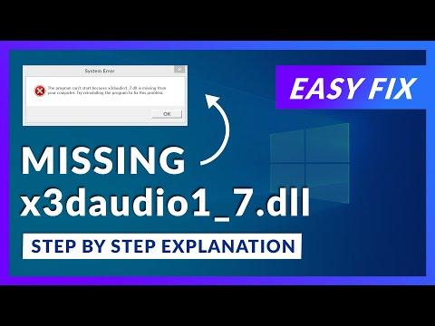 x3daudio1_7.dll Missing Error   How to Fix   2 Fixes   2021
