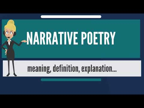 What is NARRATIVE POETRY? What does NARRATIVE POETRY mean? NARRATIVE POETRY meaning & explanation