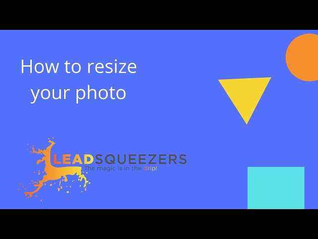 Lead Squeezers - How to resize your photo
