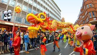 London's Chinese New Year GRAND PARADE 2019 in Chinatown for Year of the Pig