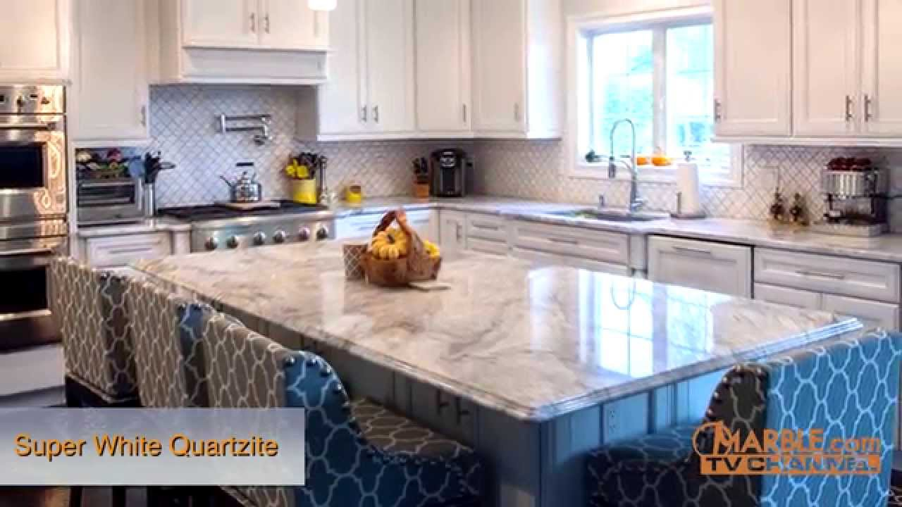 Merveilleux Super White Quartzite Kitchen Countertops II | Marble.com   YouTube