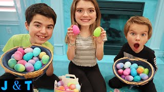 Surprise Easter Egg Hunt With Candy, Money And Punishments