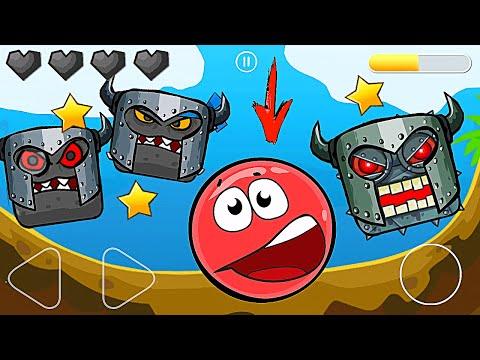 Красный Шар - мод на 1000 квадратов на уровне ! Red Ball 4 mod 100 square шарик от Спуди   !