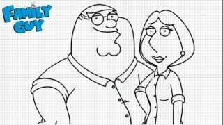 Family Guy - How to draw Peter and Lois - Video - Family Guy