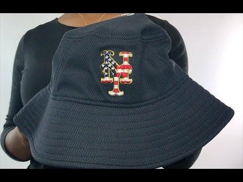 Mets  2018 JULY 4TH STARS N STRIPES BUCKET  Navy Hat by New Era ... 5918a53dd0c