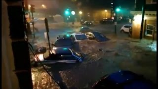 Cars Swept Away in Ellicott City Flooding