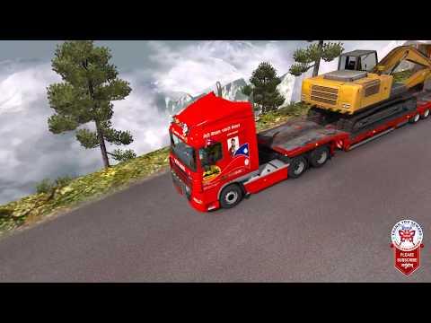 Nepal Online Games - Heavy Cargo Excavator Transportation Dangerous Himalaya Roads ETS2