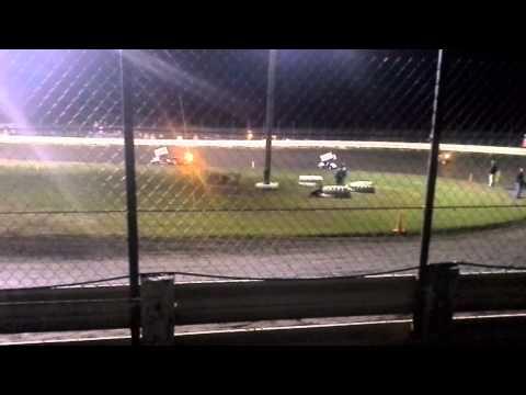 6 7 13 heat2 English Creek Speedway Knoxville Iowa, Joshua the Moffinator Moffitt 125 Winged Kart