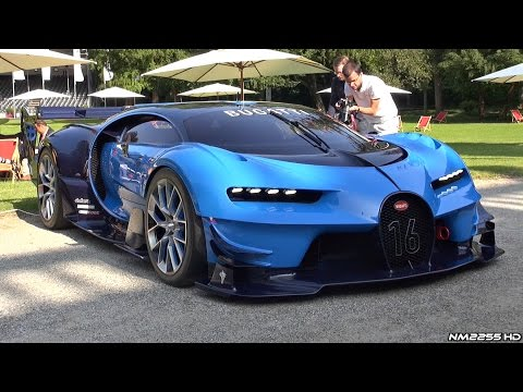 Bugatti Vision GT HUGE Exhaust Sounds - LOUD Revs, Driving, Start Up & Loading Into a Truck!
