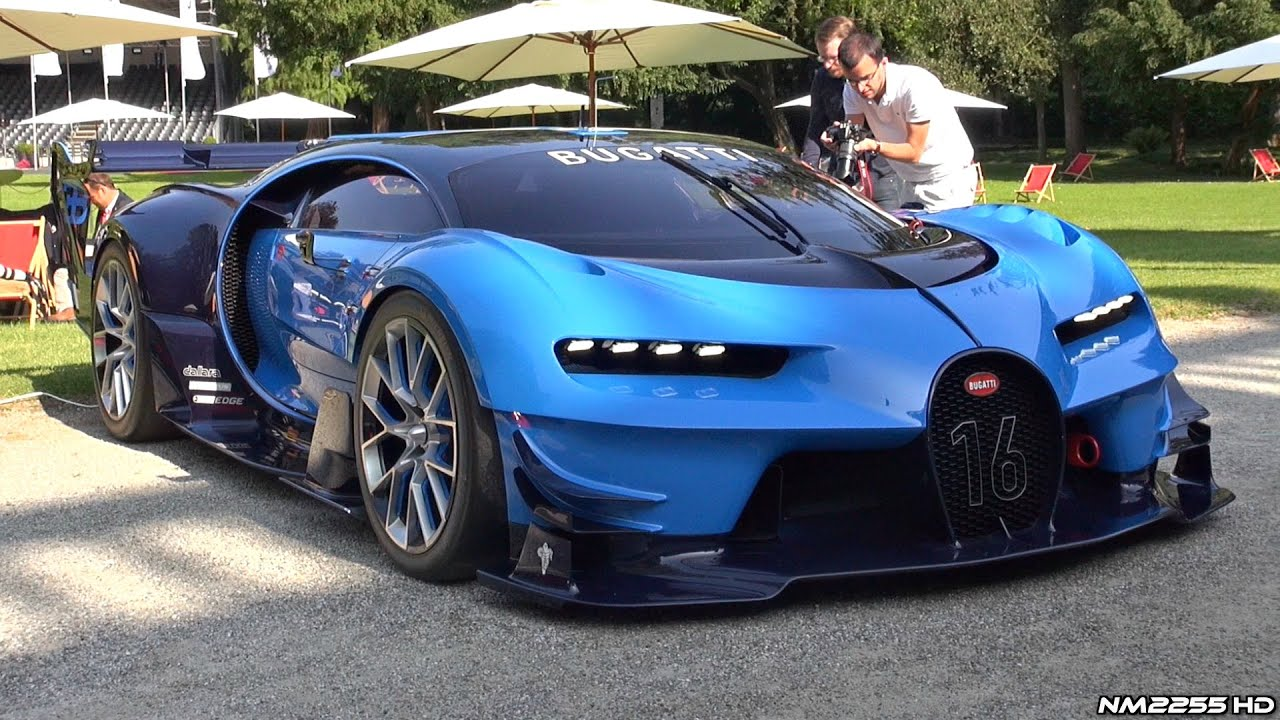 Bugatti Vision Gt Huge Exhaust Sounds Loud Revs Driving Start Up Loading Into A Truck Youtube