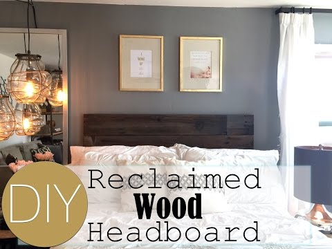 DIY Reclaimed Wood HEADBOARD | Small Apartment Decorating | Live Your Style